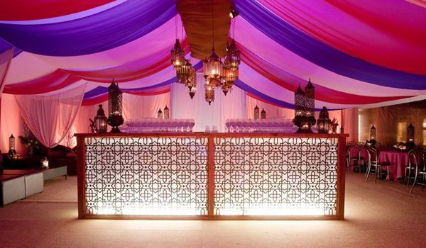Custom Installed Coloured Drapes – Clearspan Structure