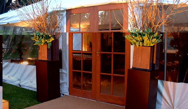 Natural Timber Frame Doors – Pole Marquee