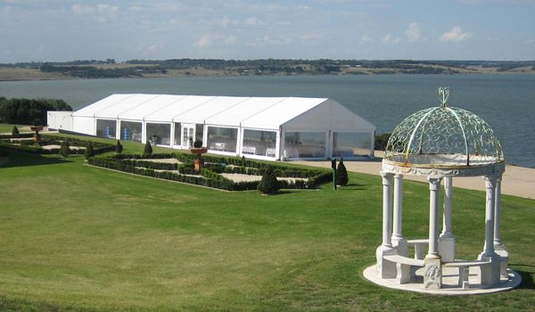 10m x 30m Clearspan Structure (5m Catering Bay) – Campbell Point House