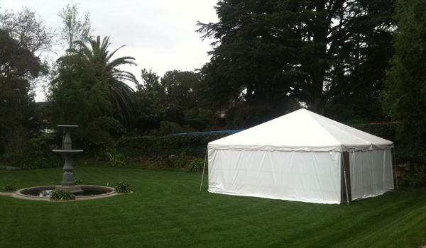 6m x 6m Frame Marquee – White Walls