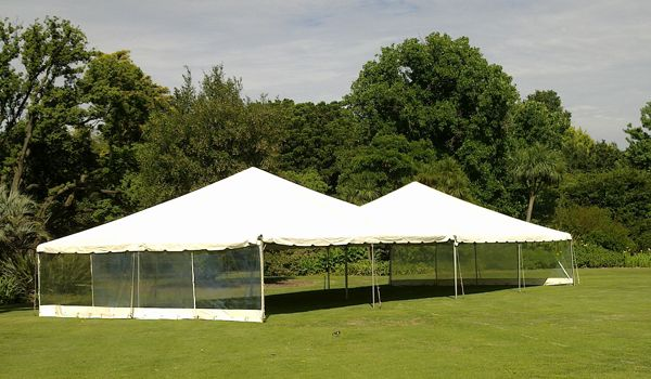 9m x 9m Frame Marquees – Joined Together