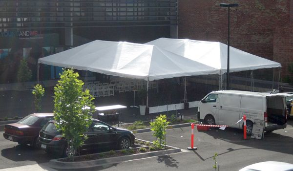 6m x 12m Frame Marquees – Joined Together