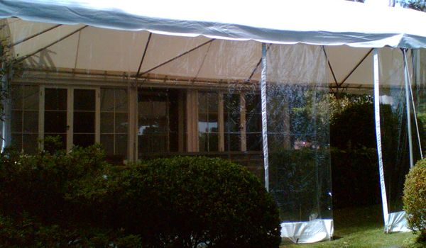 Frame Marquee – 3m Leg Extensions Joined to House