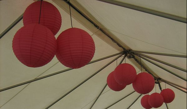 Frame Marquee Roof – Without a Liner – Clusters of Lanterns
