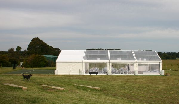 Clearspan Structure with Clear Roof and 5m Catering Bay