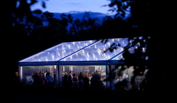 Clearspan Structure with Festoon Lights