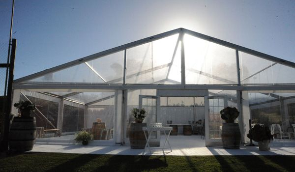 Clearspan Structure – Wedding Day Set-up