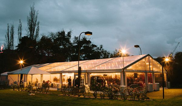 12m x 20m Clearspan Structure with Festoon Lights
