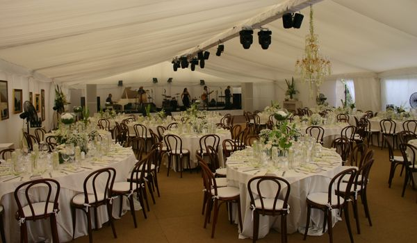 12m Clearspan Structure – Flat White Liner & Lighting Truss