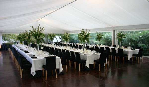 10m Clearspan Structure – Flat White Liner, Back Lit
