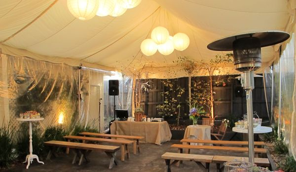 Cluster of White Rice Paper Lanterns – Frame Marquee & Ecru Liner