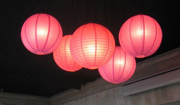 White Chintz Drum Lanterns – Frame Marquee & Ecru Liner