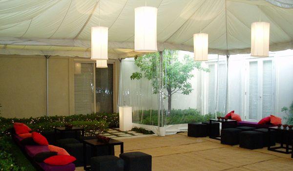 White Cylinder Lanterns - Frame Marquee & Ecru Liner