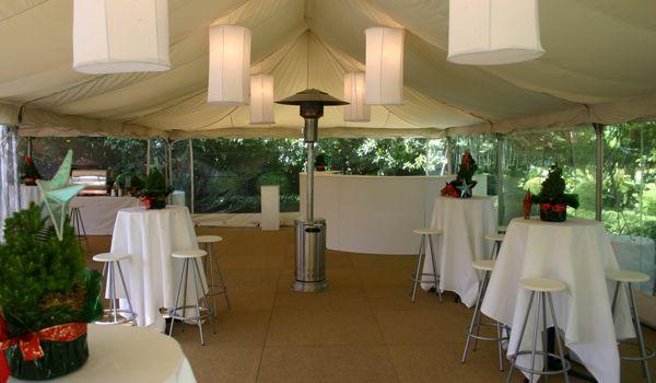 White Cylinder Lanterns – Frame Marquee & Ecru Liner