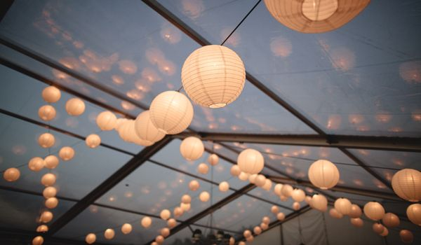Festoon Lights with Lanterns
