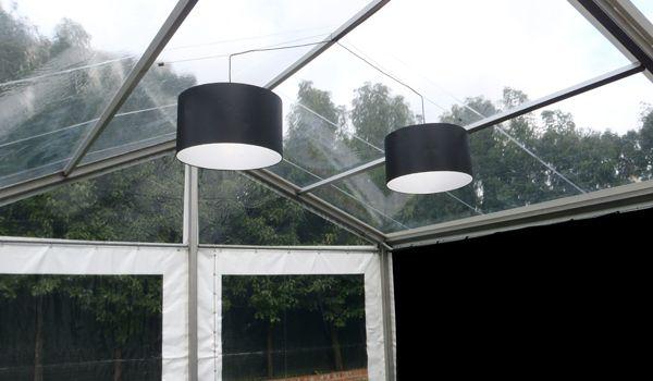 Black Chintz Drum Lanterns