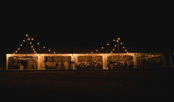 External Festoon Lights on Poles