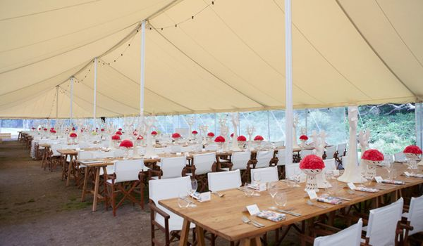 12m x 36m Pole Marquee – Ecru Roof Liner