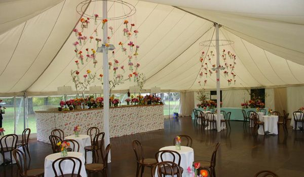 12m x 18 Pole Marquee – Custom Floral Decoration