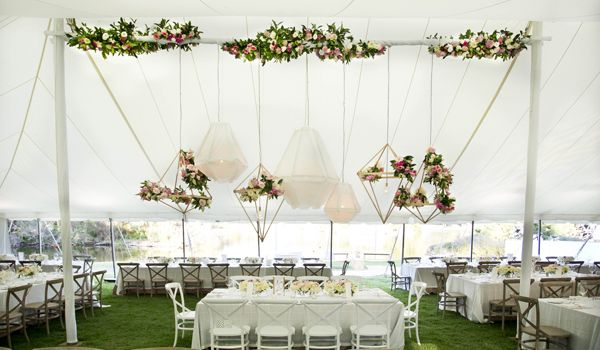 12m x 24 Pole Marquee – Rigging Bar for Floral Decoration