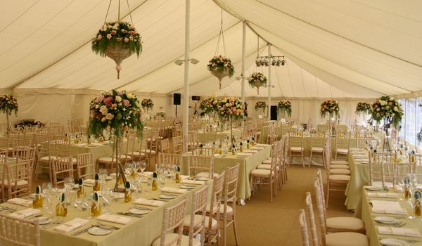 12m x 30m Pole Marquee – Custom Floral Decoration