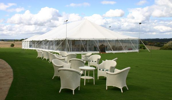 12m x 24m Pole Marquee – Catering Marquee attached
