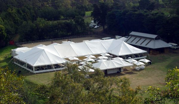 12m x 36m Pole Marquee with Right Angles – Collingwood Children's Farm