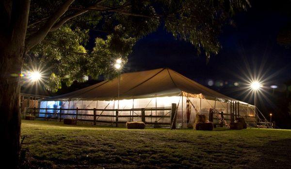 12m x 24m Pole Marquee – Outside Garden Spot Lights