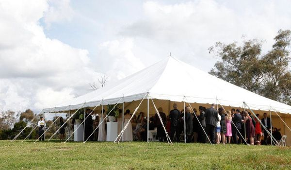 12m x 12m Pole Marquee - Walls Off