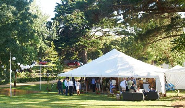 12m x 12m Pole Marquee – Catering Marquee attached